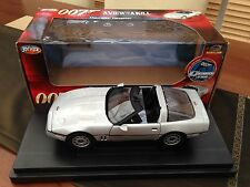 "ERTL 1:18 JAMES BOND CHEVROLET CORVETTE ""A VIEW TO A KILL"" ROGER MOORE VERY RARE"