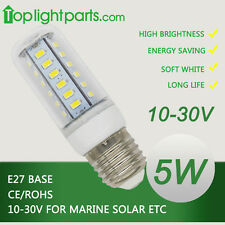 (2pcs) x 12V 10-30VDC E27 E26 4300K Day White Low Volt Solar Lamp LED Light Bulb