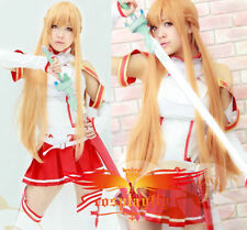 Hot Sword Art Online Asuna Yuuki long cosplay wig free shipping