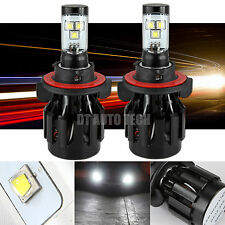 H13 60W 7000LM CREE LED Headlight High/Low Beam Bulbs White 6000K High Power