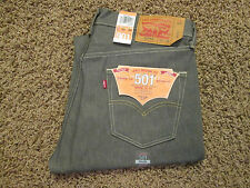 35 X 30 LEVI 501XX SHRINK TO FIT MENS BUTTON-FLY JEANS -GRAY- NWT