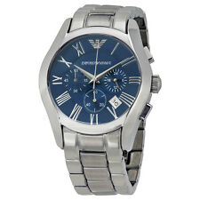 Armani Classic Chronograph Blue Dial Stainless Steel Bracelet Mens Watch AR1635