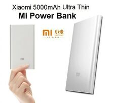 Original New Xiaomi 5000mAh Ultra Thin Silver Powerbank External Battery Charger