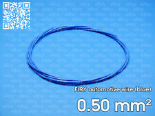 Automotive wire FLRY 0.5mm², blue color, 1 meter length