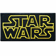 Star Wars Black Logo Episode Movies Classic Cartoon Kids Iron on Patches #M038