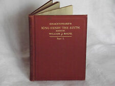 Vintage Shakespeare's King Henry The Sixth, Part 1 -Edit. William J. Rolfe -1898