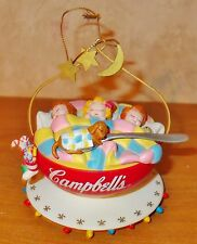 Campbell  Kids Ornaments  -  1993 Kids Sleeping in Soup Bowl with Dog in Spoon