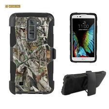 Hunter Camo,Armor Case with Kickstand & Holster For LG Tribute 5 LG K7
