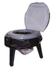 Reliance Fold To Go Collapsible Portable Toilet Double Doodie Stool 9824-21W NEW
