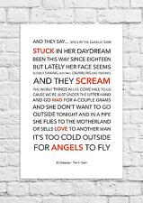 Ed Sheeran - The A Team - Song Lyric Art Poster - A4 Size