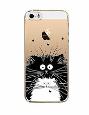 Phone Case Cover For iPhone5 5S Cat Ultra Soft Silicon Transparent