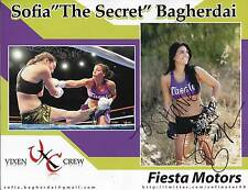 SOFIA THE SECRET BAGHERDAI MMA MIXED MARTIAL ARTS FIGHTER SIGNED PHOTO AUTOGRAPH