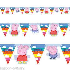 PEPPA PIG Summer Fun per bambini festa di Compleanno Bandiera Striscione Bandierine Decorazione