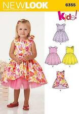 NEW LOOK SEWING PATTERN GIRLS KIDS DRESS VARIATION LENGTHS 1/2 - 4 6355