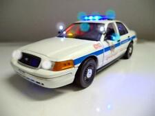 "POLICE 1/18 CHICAGO PD  FORD Crown Victoria ""WORKING LIGHTS"" SIREN Diecast Car"