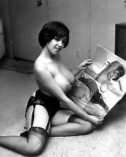 1960s Huge Breasts Julie Williams holding self portrait 8 x 10 Photograph