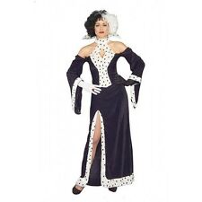 Costume Halloween Cruella dalmation LADY 10-14