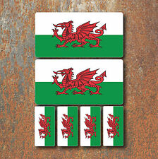 Welsh Wales Flag Laminated Sticker Set Small Car Motorcycle Mountain Bike Decals