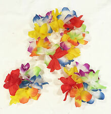Adult Hawaiian Costume Tropical  Hula Luau Lei Headband Wrist Flower Party Dress
