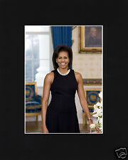 Michelle Obama First Lady Black Matted Photo Picture