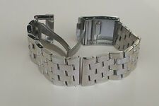 24mm SOLID POLISHED DOUBLE LOCK CROSS LINKS STAINLESS STEEL WATCH BAND,BRACELET