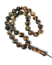 Islam Prayer Beads Misbaha Subha Tasbih From Baltic Amber  11 mm 33 Round Beads