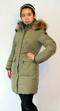 "36"" LONG LADY'S DOWN COATS WITH REAL RACCOON FUR ON HOOD"