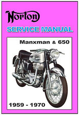 NORTON Workshop Manual  Manxman 1959 1960 1961 1962 1963 1964 1965 1966 1967