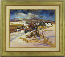 Louise Lecor Kirouac IAF(b.1939) Canadian Listed Quebec Acrylic/Canvas Landscape