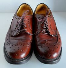 Gunboat Wing Tips Brogues Men 8 E/CBrown Leather V-Cleat Oxford Dress Shoe RETRO