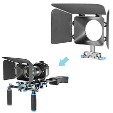 Neewer Plastic DSLR Matte Box C1 for 15mm Rail Rod Support Follow Focus System