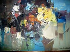 CESAR BUENAVENTURA RARE MODERN IMPRESSIONISTIC OIL  ON CANVAS SIGNED DATED 1967