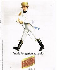 Publicité Advertising 1982 Le Whisky Johnnie Walker Red Label