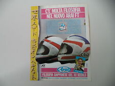 advertising Pubblicità 1987 CASCO HELMET ARAI FT e FREDDIE SPENCER