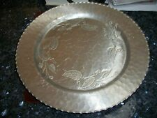 "Vintage Farberware Aluminum Circle Tray - Blackberry Pattern 13 1/2"" No Reserve"