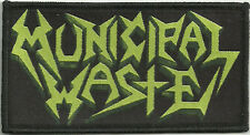 "Municipal Waste ""Logo"" Woven Patch - OFFICIAL art of partying hazardous mutation"
