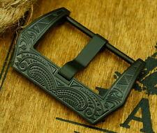 Noble cierro Buckle 20 mm Black F. Staps Ammo relojes cintas vintage pam retro