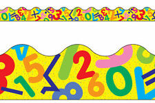 Maths Fun Numbers Trimmers - Classroom Notice Board Display Borders 12M