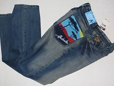 NWT akademiks Blue Jeans Sunset Stch Size 30 x 31 100% Cotton