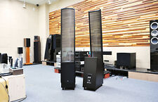 Martin Logan ElectroMotion ESL Speakers Hand-Wired Vojtko X-Over | Gloss Black