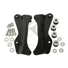 Black 4-Point Docking Hardware Kit For Harley Touring Glide Road King 2014-2016