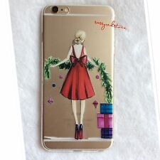 FASHIONISTA IPHONE 5SE SILICONE TRANSPARENT CASE - Lady in Red