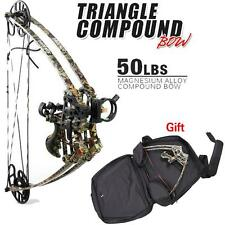 50Lbs Right Handed Camo Archery Compound Bow Set Adult  Hunting Arget Shooting