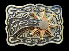 BIG COOL WESTERN COWBOY RODEO SPINNING SPUR BELT BUCKLE BOUCLE DE CEINTURE