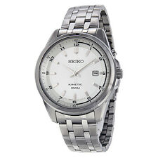 Seiko Kinetic Silver Dial Stainless Steel Mens Watch SKA629