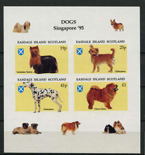 Easdale Scotland 1995 Singapore '95 Dogs MNH Imperf Sheet #A68079