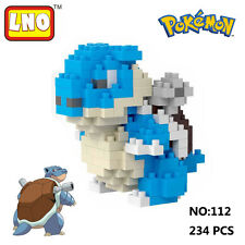 LNO Anime Pokemon Blastoise Nano Block Diamond Mini Building Toys Pocket Monster