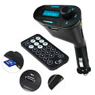 Car Kit MP3 Player Audio FM Transmitter Remote USB SD Card Aux In Dual Output
