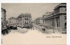 SUISSE SWITZERLAND canton de GENEVE GENEVE carte 1900 tramways rues poste