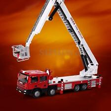 1:50 Scale Metal Diecast Aerial Fire Truck Construction Vehicle Cars Model Toys